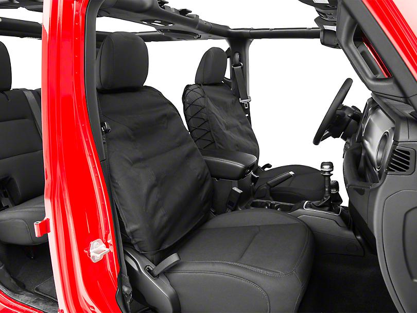 Smittybilt G.E.A.R. Front Seat Covers - Black (87-18 Jeep Wrangler YJ, TJ, JK & JL)