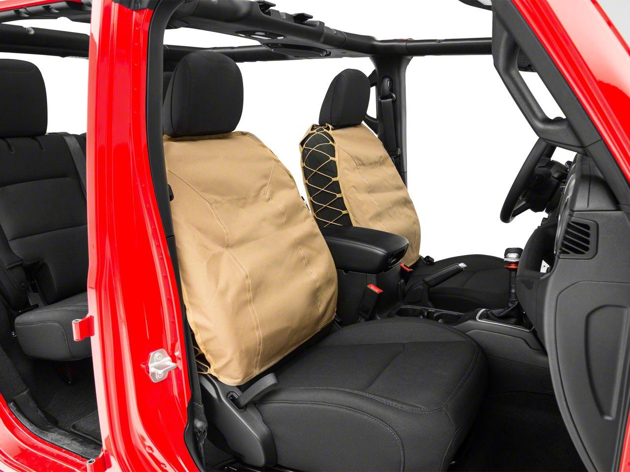 Smittybilt 47824 Neoprene Tan Front Seat Cover