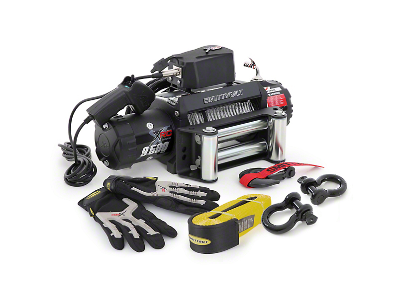 Smittybilt XRC 9,500 lb. Winch with Recovery Pack