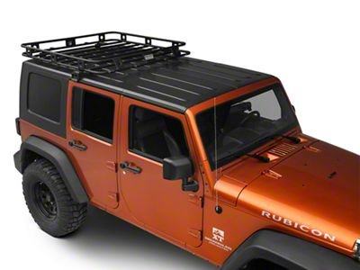 Smittybilt Jeep Wrangler Welded One Piece Defender Roof Rack 4 5 Ft X 4 5 Ft 45454 07 18 Jeep Wrangler Jk 4 Door