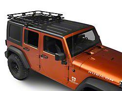 Smittybilt Welded One-Piece Defender Roof Rack - 4.5 ft. x 4.5 ft. (07-18 Jeep Wrangler JK 4 Door)