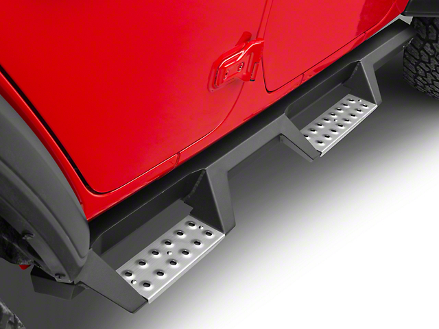 Westin HDX Drop BPS Nerf Side Step Bars - Textured Black (18-19 Jeep Wrangler JL 4 Door)