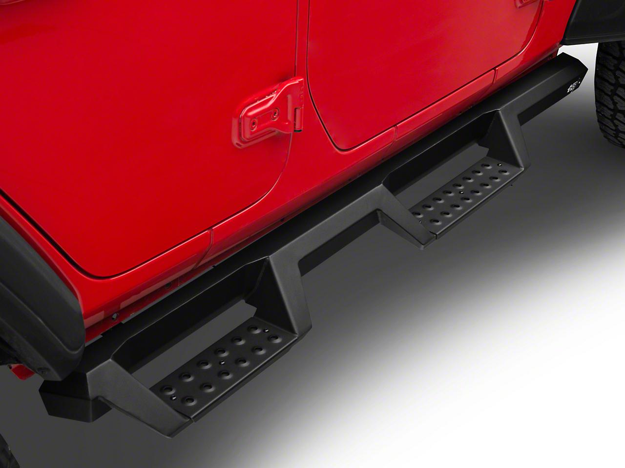 Westin HDX Drop Nerf Side Step Bars - Textured Black (2018 Jeep Wrangler JL 4 Door)