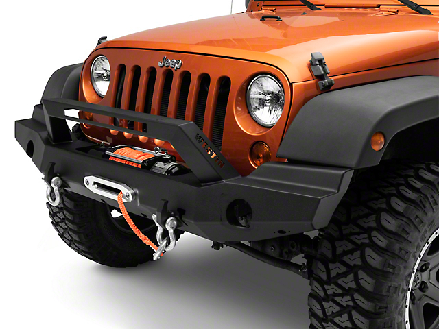 Westin WJ2 Full Width Front Bumper w/ LED Light Bar - Textured Black (07-18 Jeep Wrangler JK)