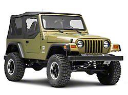 Bestop Replacement Fabric Upper Door Skins - Black Denim (97-06 Jeep Wrangler TJ)