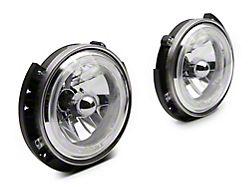 Raxiom LED Halo Headlights; Chrome Housing; Clear Lens (07-18 Jeep Wrangler JK)