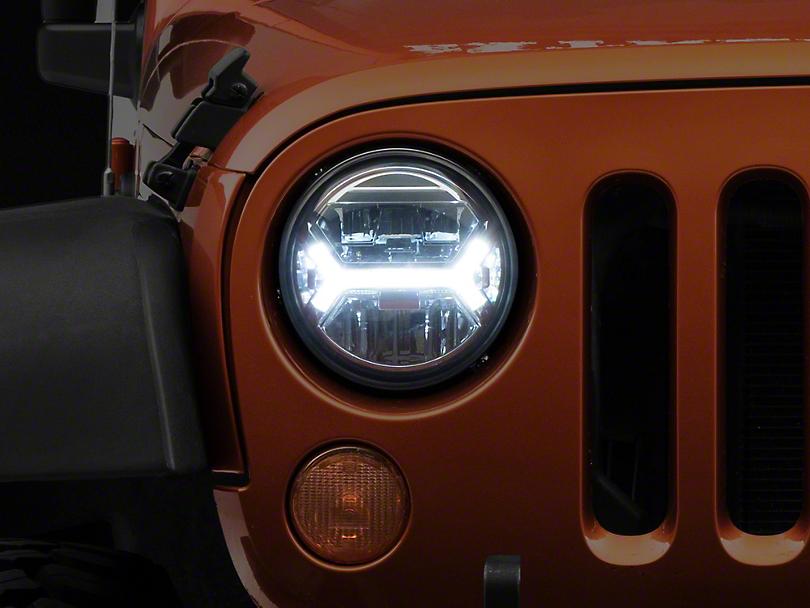 Raxiom LED Headlights w/ Halos (07-18 Jeep Wrangler JK)