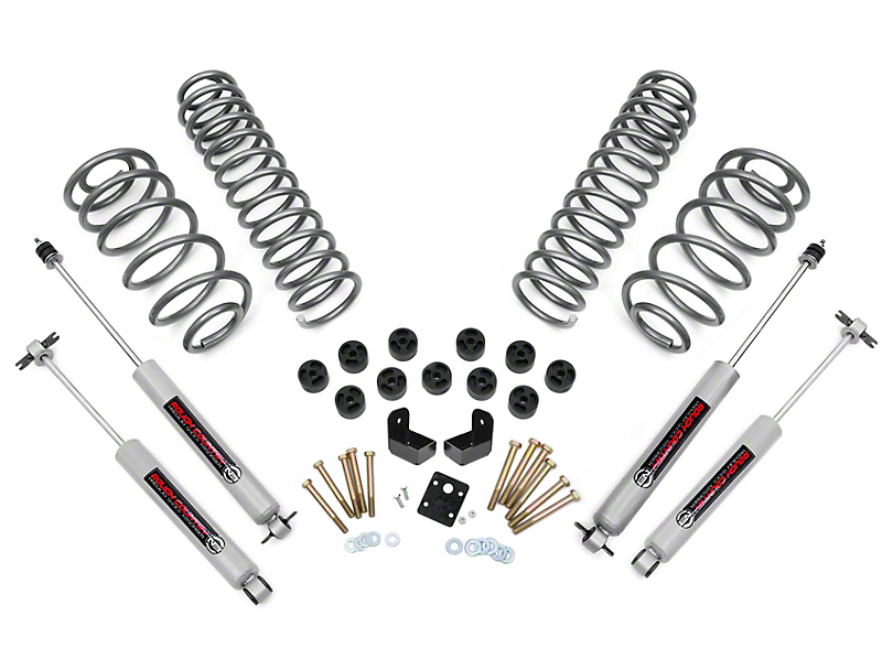 Rough Country 3.75-Inch Lift Combo Kit with Premium N3 Shocks (97-06 2.4L or 2.5L Jeep Wrangler TJ)