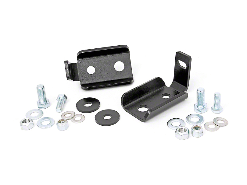 Rough Country Front Shock Relocation Brackets (07-18 Jeep Wrangler JK)