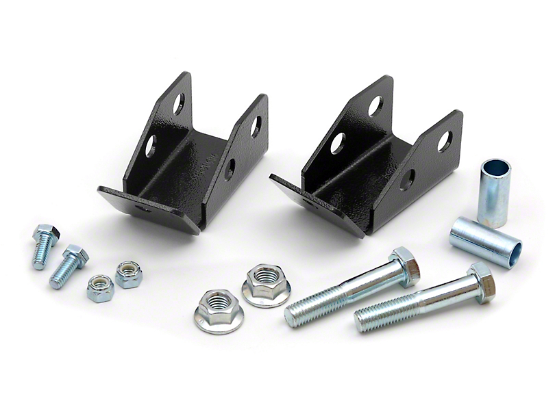 Rough Country Rear Shock Relocation Brackets (97-06 Jeep Wrangler TJ)