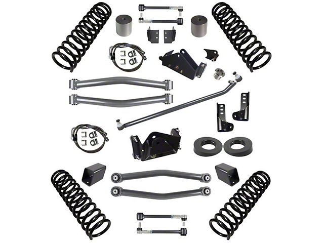 synergy jeep wrangler 3 in  suspension lift kit for right