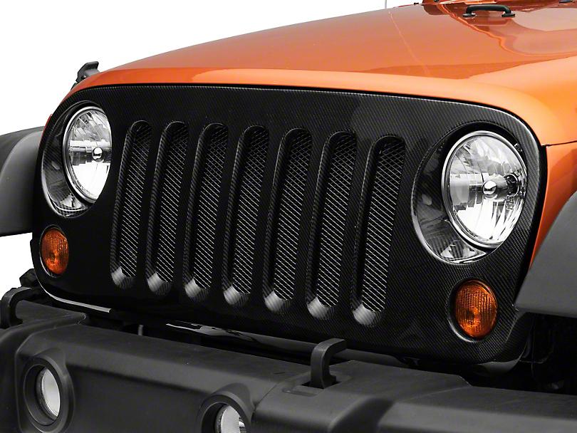 Anderson Composites Grille - Carbon Fiber (07-18 Jeep Wrangler JK)
