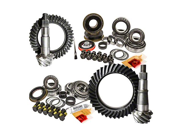 Nitro Gear & Axle Dana 30 Front Axle/35 Rear Axle Ring Gear and Pinion Kit - 5.13 Gears (97-06 Jeep Wrangler TJ)