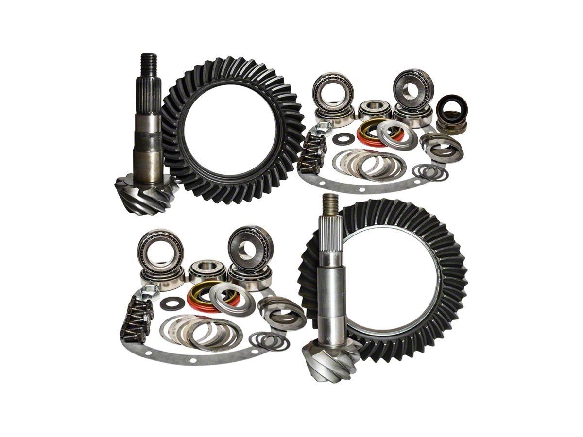 Nitro Gear & Axle Dana 30 Front Axle/44 Rear Axle Ring Gear and Pinion Kit  - 4 11 Gears (97-06 Jeep Wrangler TJ)