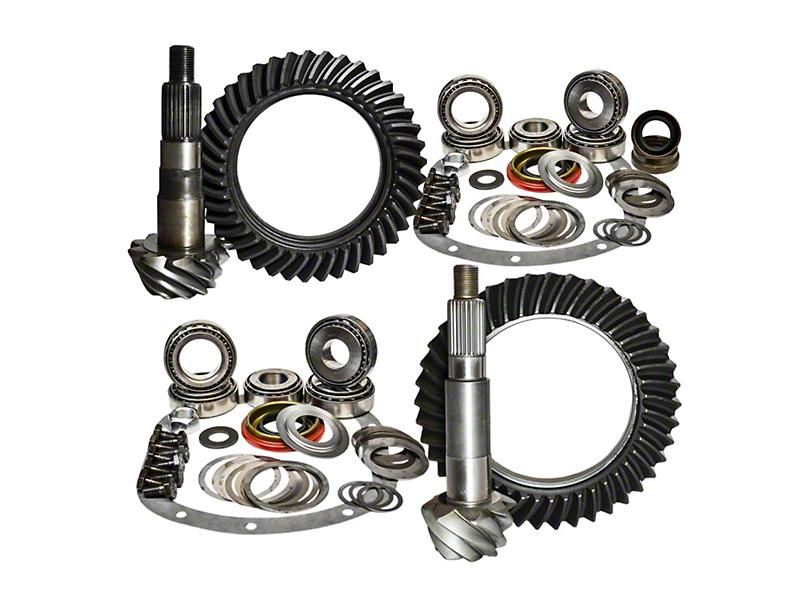 Nitro Gear & Axle Dana 30 Front Axle/44 Rear Axle Ring and Pinion Gear Kit; 4.56 Gear Ratio (97-06 Jeep Wrangler TJ)
