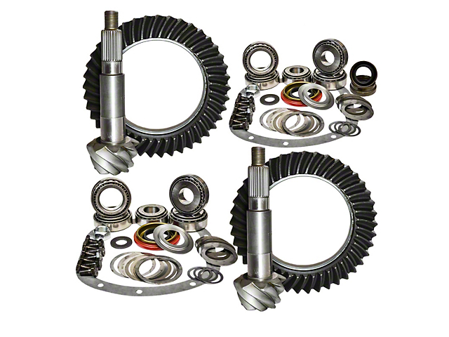 Nitro Gear & Axle Dana 44 Front Axle/44 Rear Axle Ring Gear and Pinion Kit - 4.88 Gears (03-06 Jeep Wrangler TJ Rubicon)