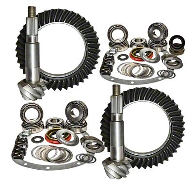 DANA 44 JK RUBICON FRONT REAR 5.13 RING AND PINION GEARS /& INSTALL KIT PACKAGE