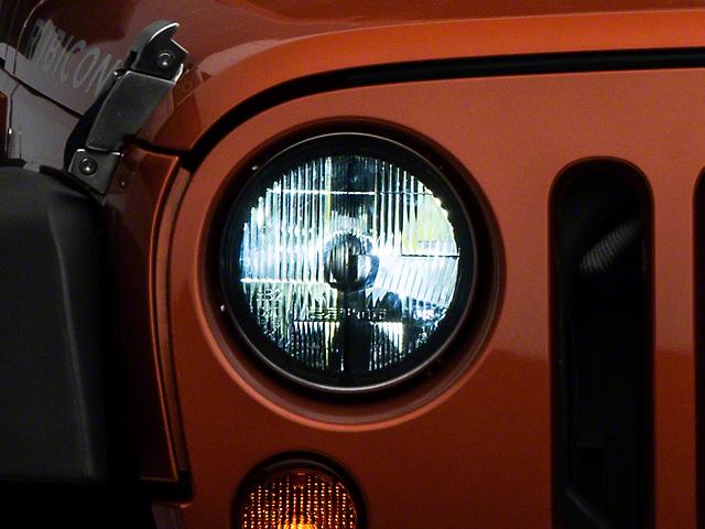 Delta LED Headlights w/ Amber Blinker Halos (07-18 Jeep Wrangler JK)