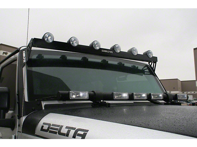 Delta Bullet LED Shield w/ Halo Blinkers (07-18 Jeep Wrangler JK)