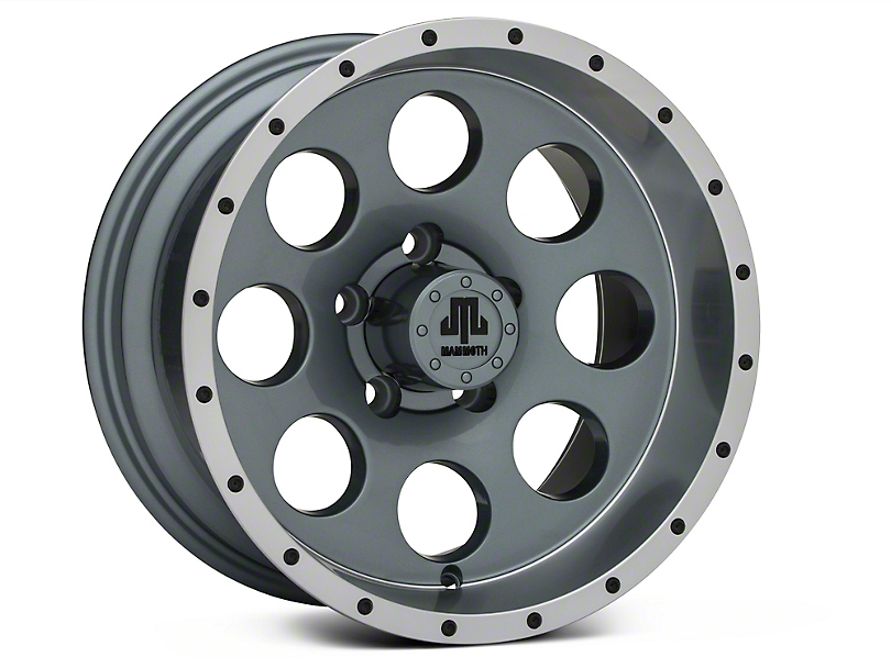 Mammoth 8 Beadlock Style Anthracite 15x8 Wheel & Mickey Thompson Baja MTZP3 31x10.50R15 Tire Kit (87-06 Jeep Wrangler YJ & TJ)