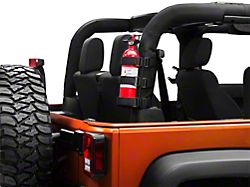 Rugged Ridge Sport Bar Fire Extinguisher Holder - Black (87-20 Jeep Wrangler YJ, TJ, JK & JL)