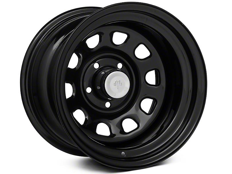 Mammoth D Window Black Steel 15x10 Wheel and Mickey Thompson Baja MTZP3 31x10.50R15 Tire Kit (87-06 Jeep Wrangler YJ & TJ)
