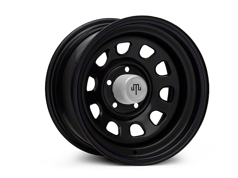 Mammoth D Window Black Wagon Edition Steel 15x8 Wheel and Mickey Thompson Baja MTZP3 31x10.50R15 Tire Kit (87-06 Jeep Wrangler YJ & TJ)