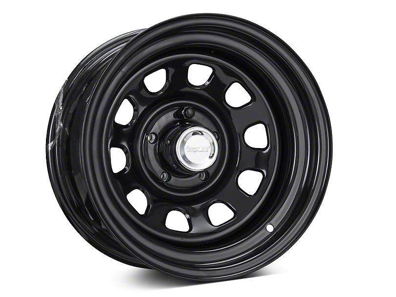Rugged Ridge D-Window Black Steel 15x8 Wheel & Mickey Thompson Deegan 38 31x10.50R15 Tire Kit (87-06 Jeep Wrangler YJ & TJ)