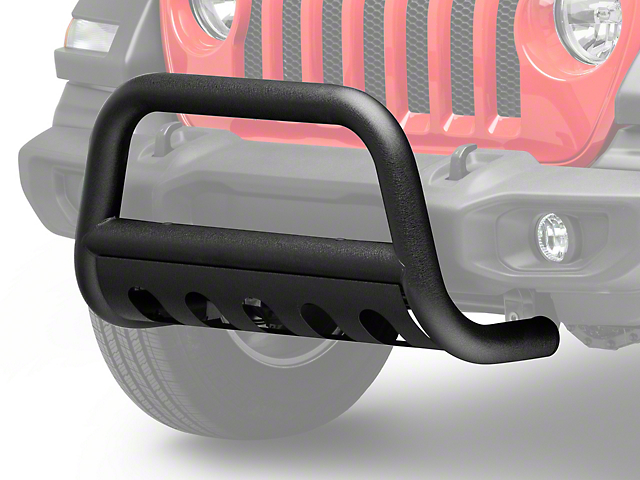 RedRock 4x4 3 in. Bull Bar w/ Skid Plate - Textured Black (18-19 Jeep Wrangler JL)