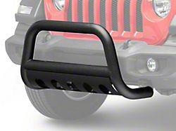 RedRock 4x4 3 in. Bull Bar w/ Skid Plate - Textured Black (18-20 Jeep Wrangler JL)