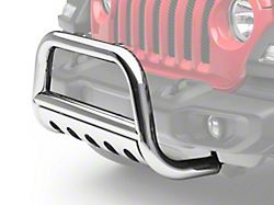 RedRock 4x4 3-Inch Bull Bar with Skid Plate; Stainless Steel (18-20 Jeep Wrangler JL)