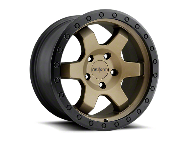 Rotiform Six Bronze 6-Lug Wheel - 17x9 (18-20 Jeep Wrangler JL)