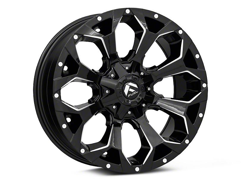 Fuel Wheels Assault Gloss Black Milled Wheel; 20x9 (18-20 Jeep Wrangler JL)