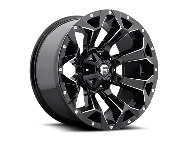 Fuel Wheels Assault Gloss Black Milled Wheel; 20x9 (20-21 Jeep Gladiator JT)