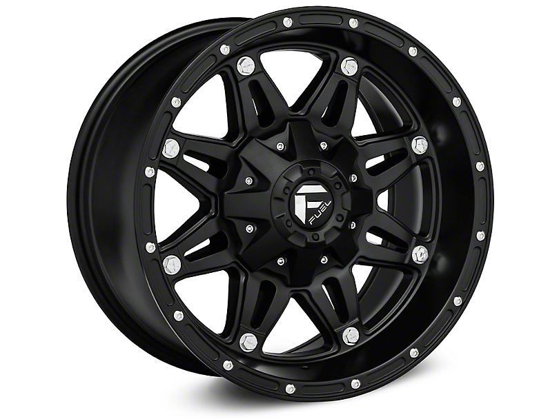 Fuel Wheels Hostage Matte Black Wheel; 18x12 (07-18 Jeep Wrangler JK)