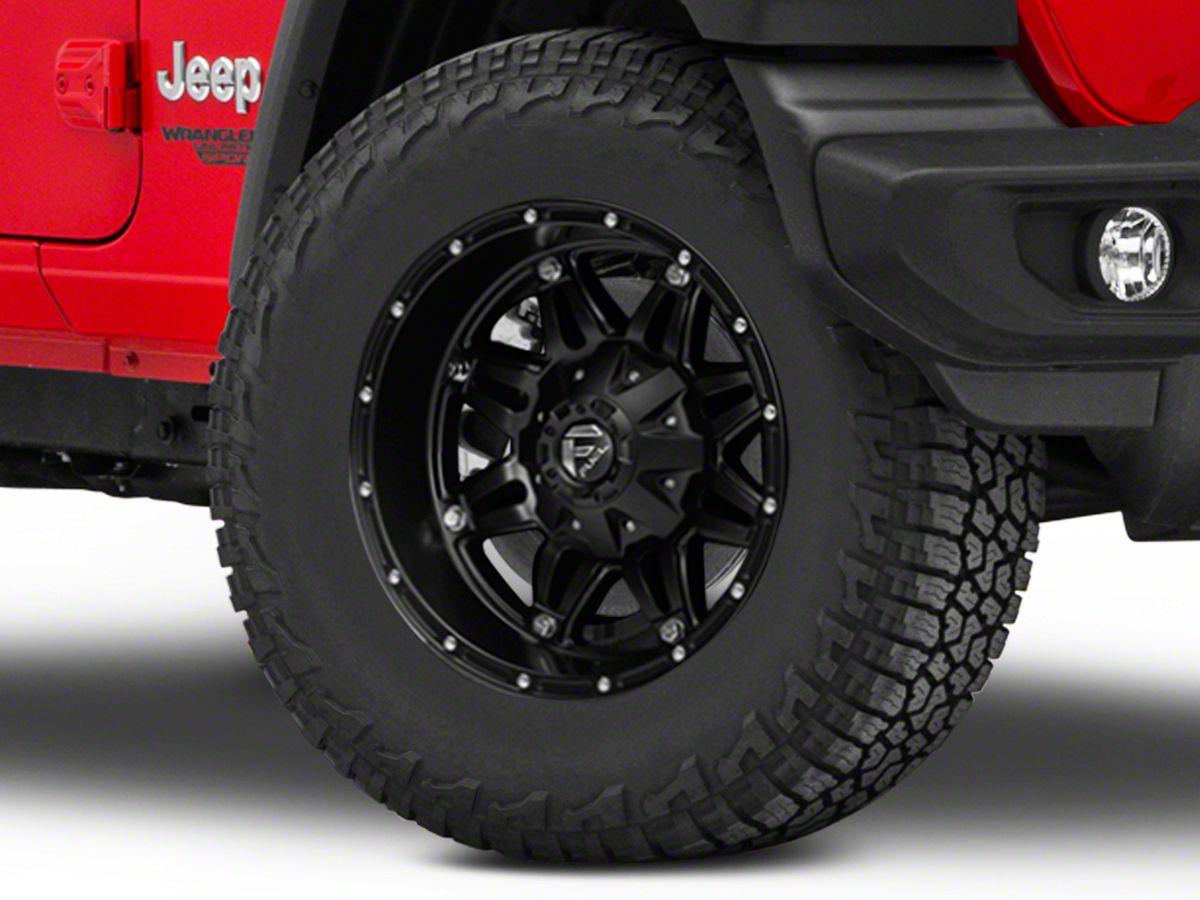 Fuel Wheels 20x9 >> Fuel Wheels Hostage Matte Black Wheel 20x9 18 20 Jeep Wrangler Jl