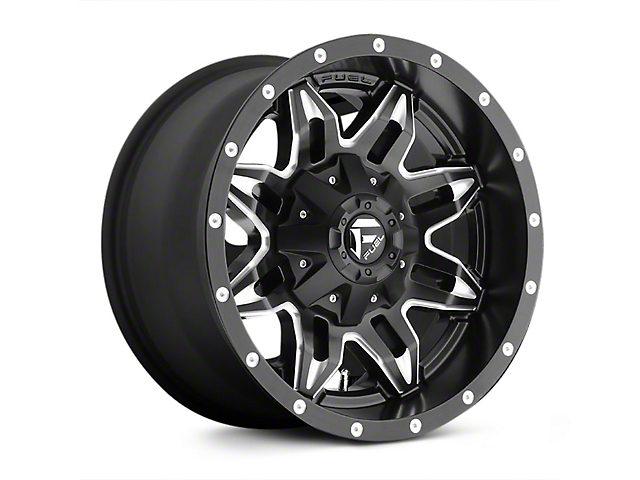 Fuel Wheels 20x9 >> Fuel Wheels Jeep Wrangler Lethal Black Milled Wheel 20x9 01mm