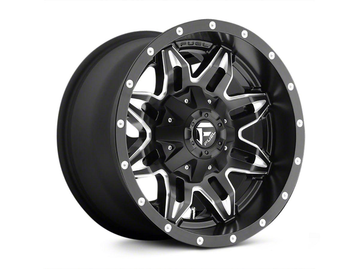 Fuel Wheels 20x9 >> Fuel Wheels Lethal Satin Black Milled Wheel 20x9 07 18 Jeep Wrangler Jk