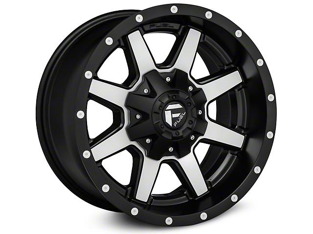 Fuel Wheels Maverick Matte Black Machined Wheel; 20x9 (07-18 Jeep Wrangler JK)
