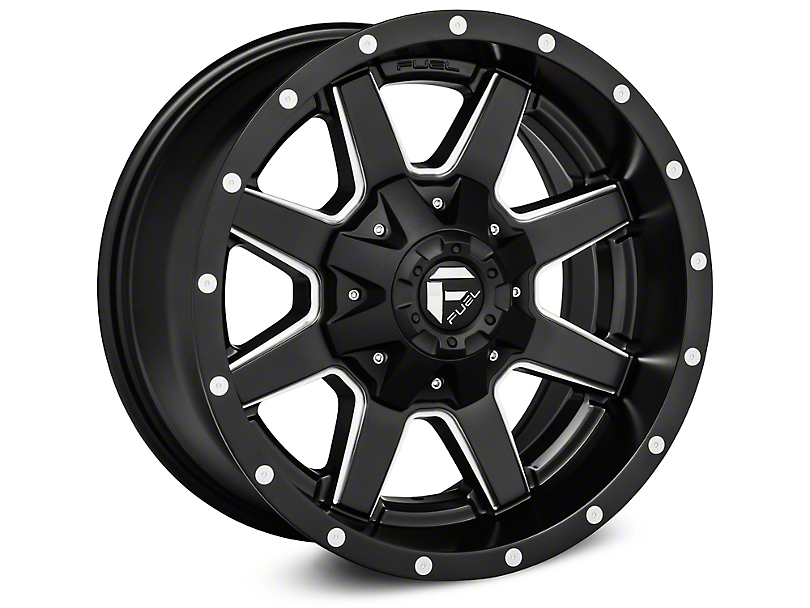 Fuel Wheels Maverick Matte Black Milled Wheel; 20x9 (07-18 Jeep Wrangler JK)