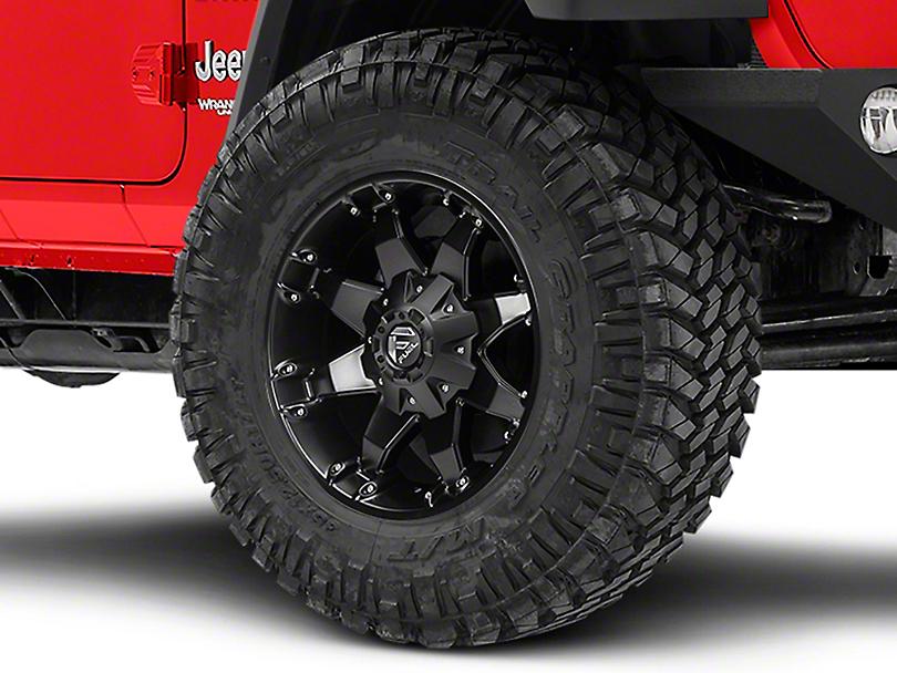 Fuel Wheels Octane Matte Black Wheel - 18x9 (18-19 Jeep Wrangler JL)