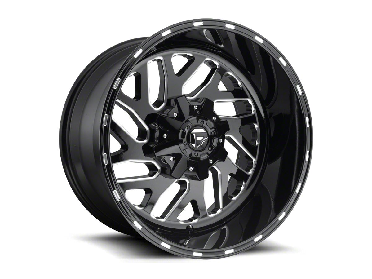 Fuel Wheels 20x9 >> Fuel Wheels Triton Gloss Black Milled Wheel 20x9 18 20 Jeep Wrangler Jl
