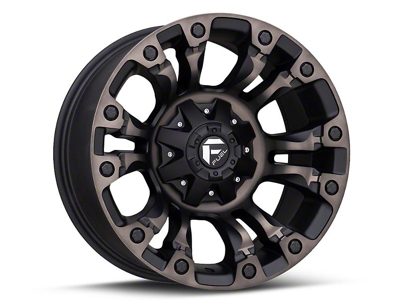 Fuel Wheels Vapor Matte Black Machined Wheel - 18x9 (07-18 Jeep Wrangler JK)