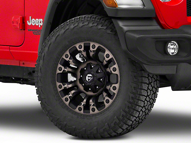 Fuel Wheels Vapor Matte Black Machined Wheel; 17x9 (18-21 Jeep Wrangler JL)