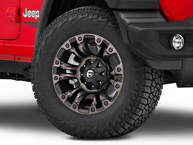 Fuel Wheels Vapor Matte Black Machined Wheel; 18x9 (18-20 Jeep Wrangler JL)