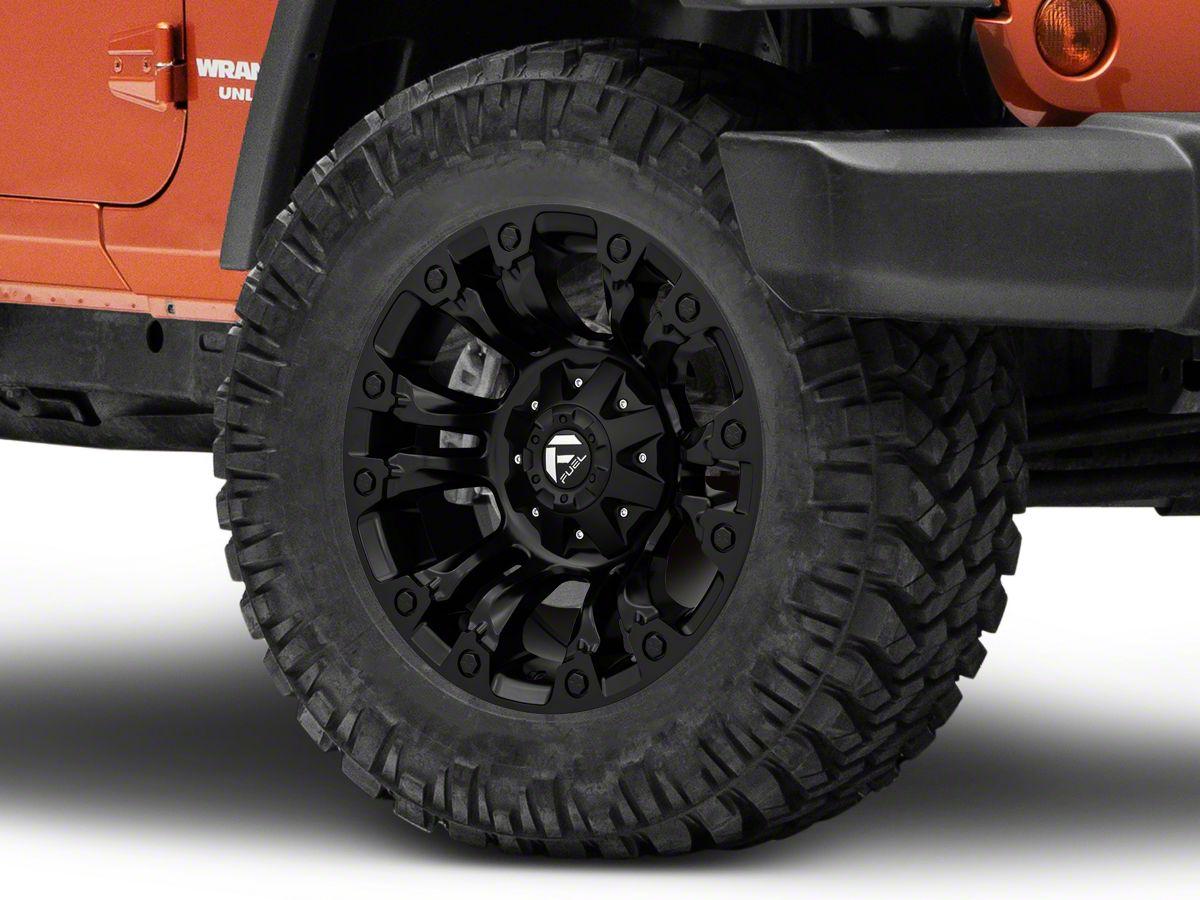 Fuel Wheels Jeep Wrangler Vapor Matte Black Wheel - 18x9 D56018902645  (07-18 Jeep Wrangler JK)