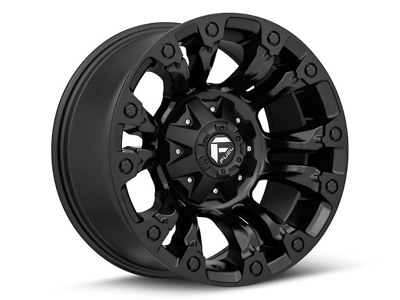 Fuel Wheels Vapor Matte Black Wheel - 18x9 (07-18 Jeep Wrangler JK)