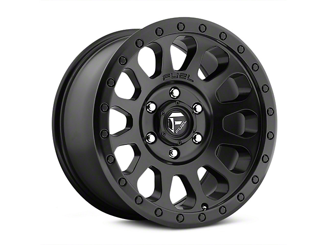 Fuel Wheels Vector Matte Black Wheel; 20x9 (07-18 Jeep Wrangler JK)