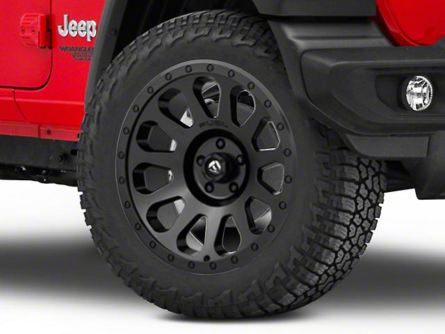 Fuel Wheels Vector Matte Black Wheel; 20x9 (18-20 Jeep Wrangler JL)