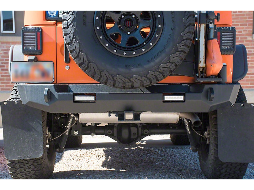 Expedition One Core Series Rear Bumper w/ Square Light Ports - Textured Black (07-18 Jeep Wrangler JK)